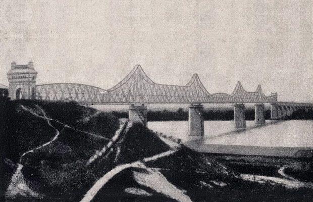 Podul de la Cernavoda, asa cum arata el in 1908