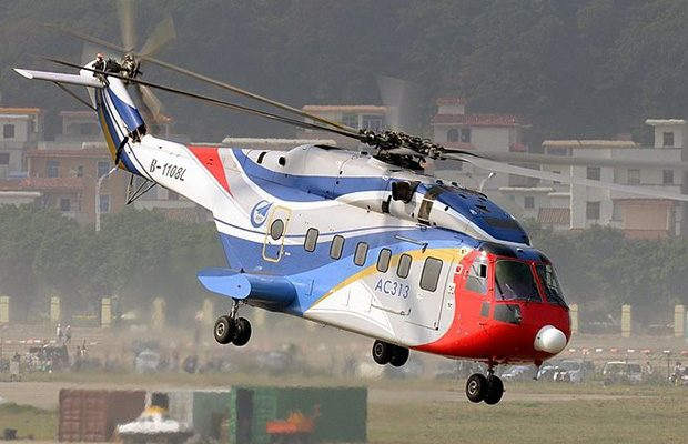 China este prezenta in top cu un avion civil: Avicopter AC313
