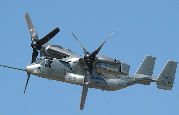 Pentru 16 tone de echipament poti apela la Bell Boeing V-22 Osprey