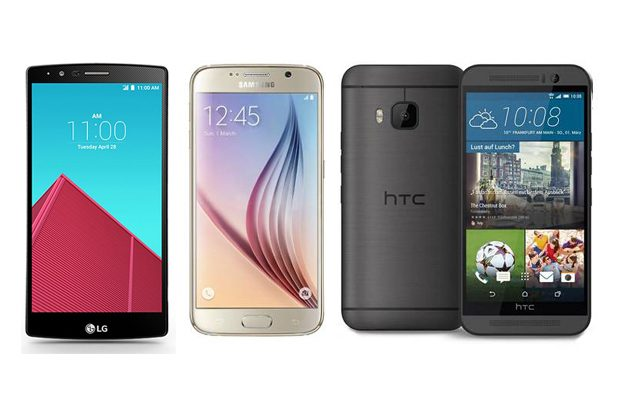 LG G4, Samsung Galaxy S6 si HTC One M9