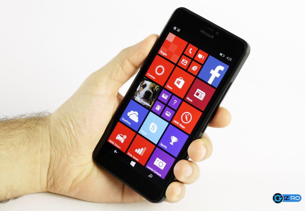 Lumia 640 XL este usor de utilizat