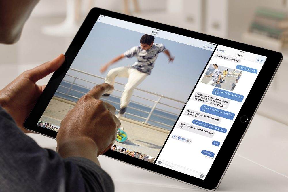 iPad Pro iese in evidenta si prin multitasking