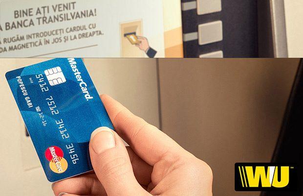 western union banca transilvania transger bani pe card
