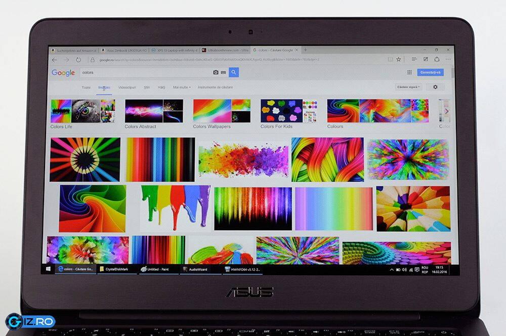 Asus Zenbook UX305UA culori ecran