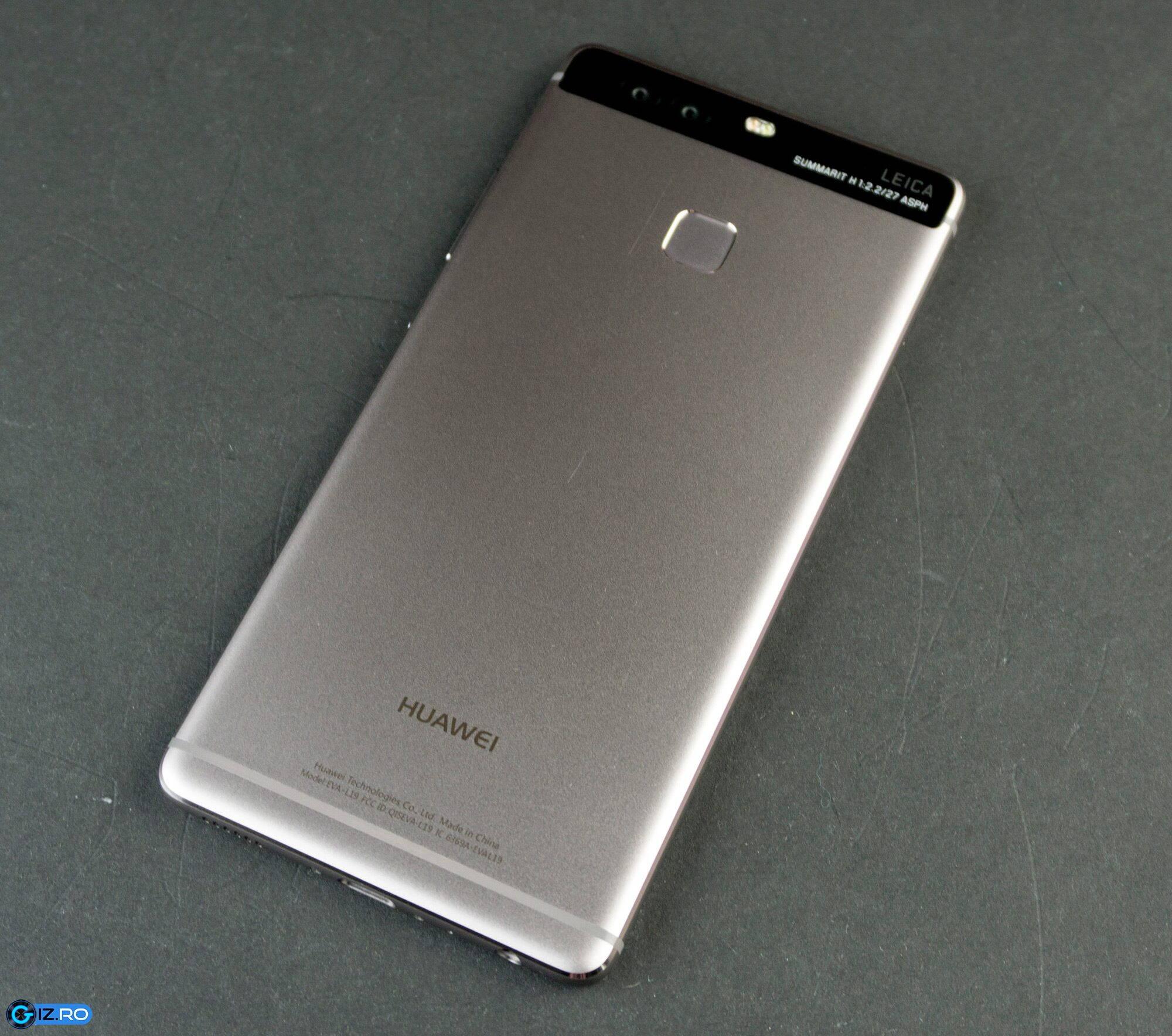 Huawei P9 are carcasa spate din aluminiu