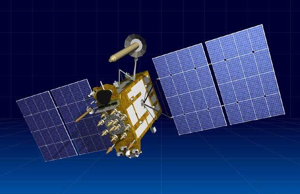 Unul dintre satelitii Glonnas de pe orbita