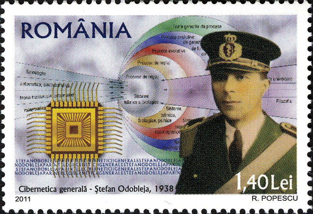 Chipul lui Stefan Odobleja pe timbre postale in 2011