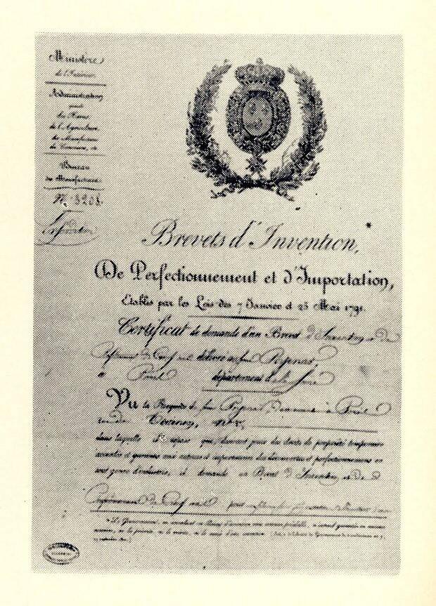 Brevetul de inventie al ui Petrache Poenaru pentru inventarea stiloului