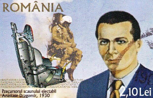 Scaunul ejectabil inventat de Dragomir aa aparut pe timbrele postale