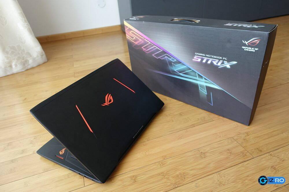 Laptopul face parte din noua gama Strix de notebook-uri pentru jocuri