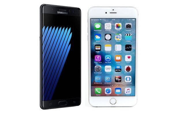 Samsung Galaxy Note 7 vs. iPhone 6S Plus