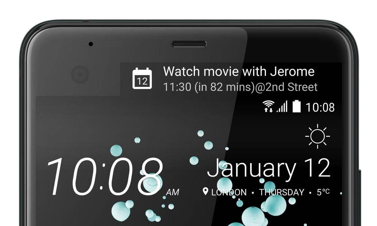 HTC U Ultra ecran secundar
