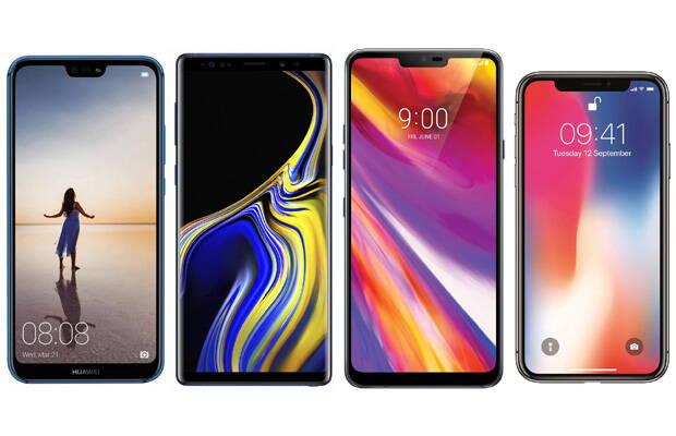 Samsung Galaxy Note 9 și concurența: iPhone X, Huawei P20 Pro și LG G7 ThinQ