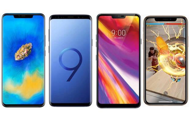 Huawei Mate 20 Pro și concurența: Samsung Galaxy S9+, iPhone XS Max și LG G7 ThinQ