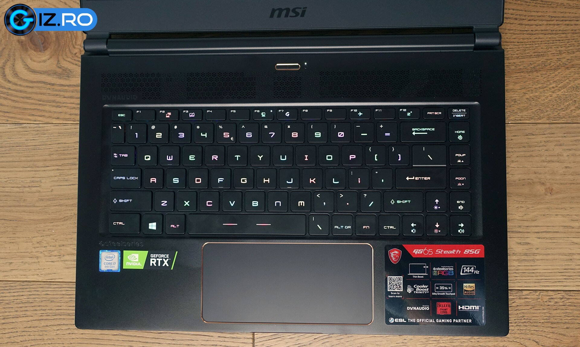 msi-gs65-stealth-keyboard-layput