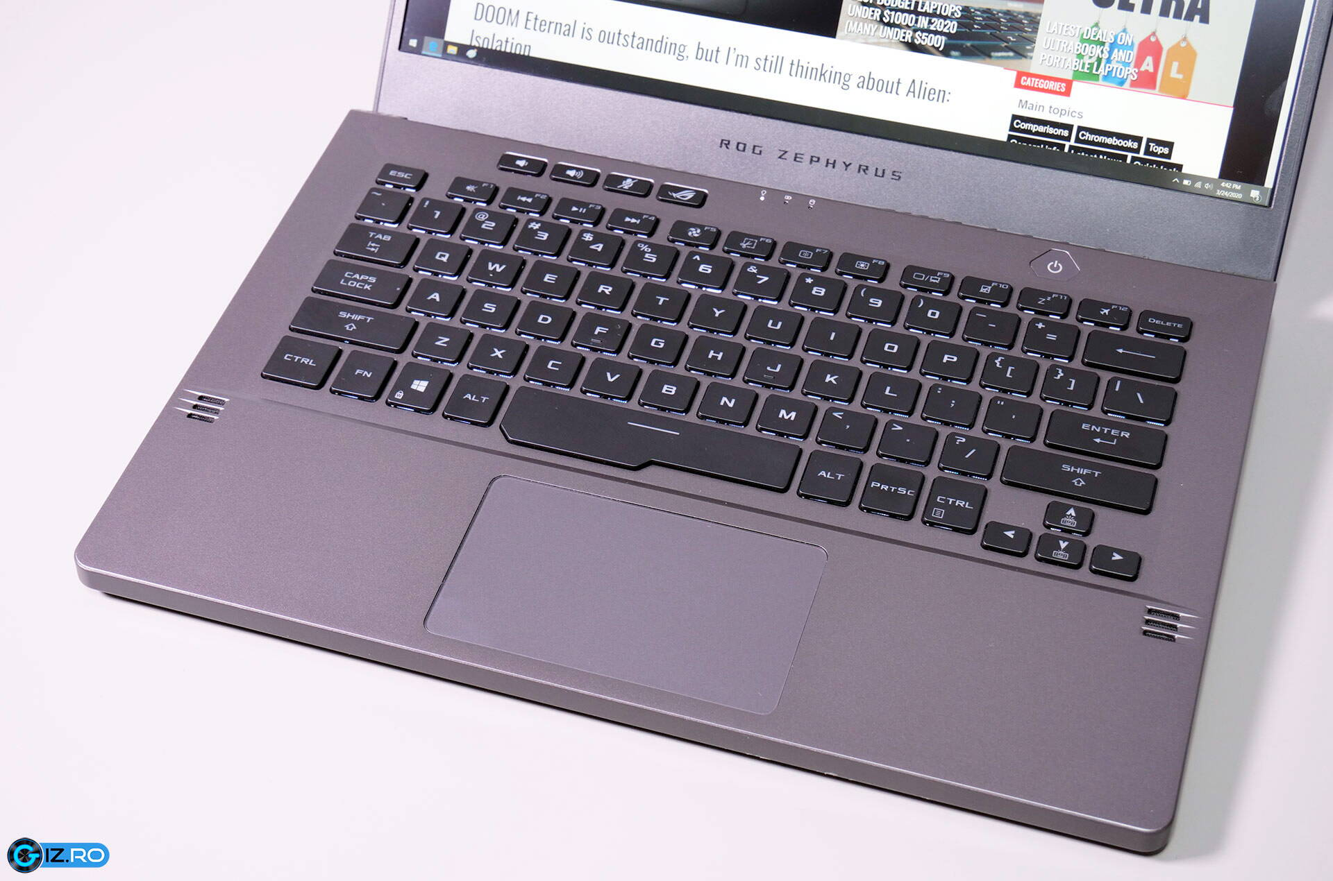 asus rog zephyrus g14 - tastatura clickpad