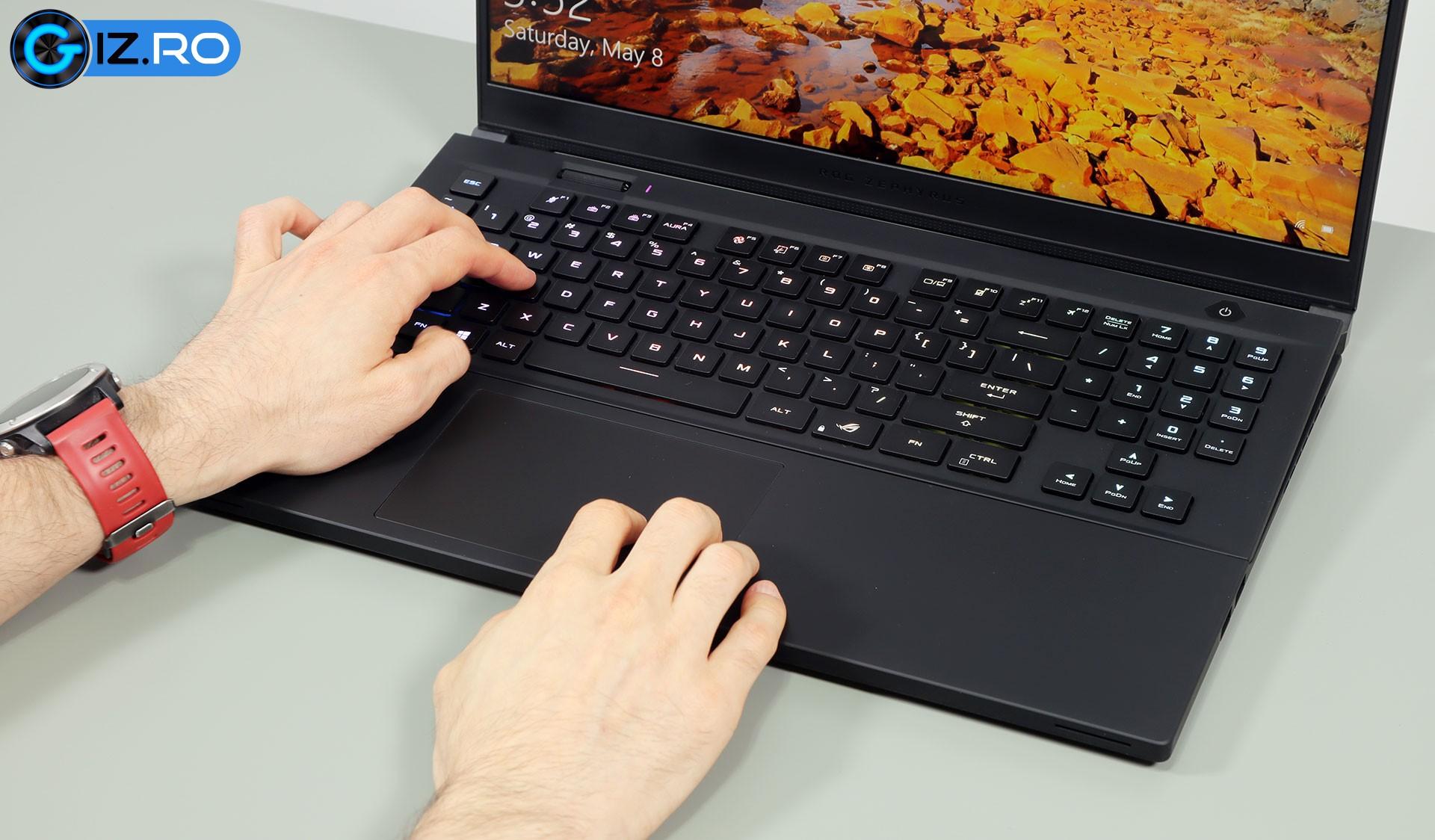 asus rog zephyrus s17 keyboard clickpad