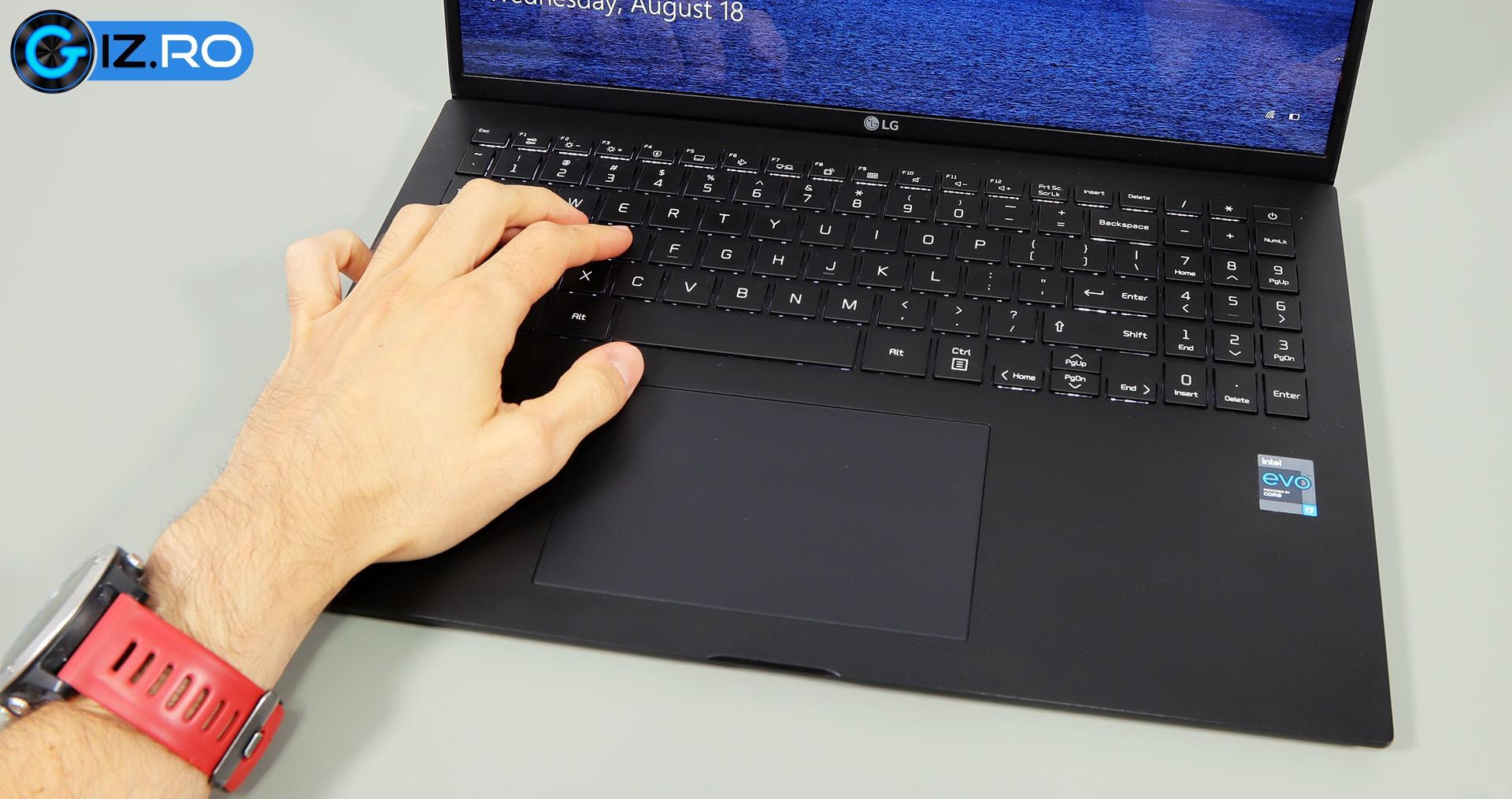 lg gram 16 keyboard clikcpad