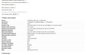 screenprofile calibrated