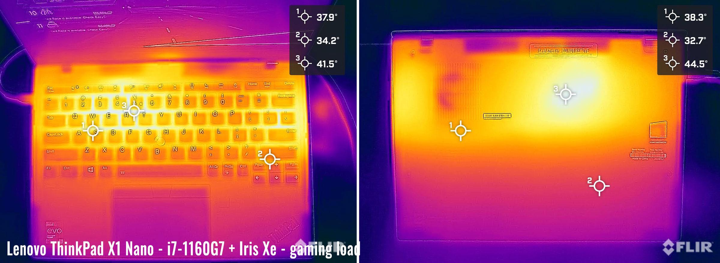 temps thinkpad x1 nano gaming